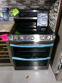 LG, ELECTRIC STOVE DOUBLE OVEN CONVENTION BLACK STAILESS STEEL