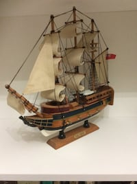 H.M.S Bounty 1784 Handcrafted Wooden Model Tall Ship