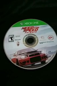 Xbox One Need for Speed Payback disc Winnipeg, R2R 0V4