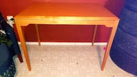 rectangular red wooden table with drawer Laredo, 78040