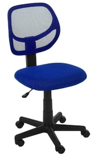 AmazonBasics Low-Back Computer Chair - Blue Alexandria
