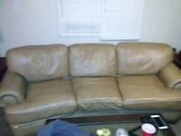 brown leather 3-seat sofa 476 mi
