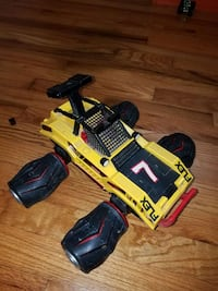 yellow and black monster truck toy