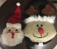 Hanging Reindeer With Bell & Santa Knob Cover Lebanon