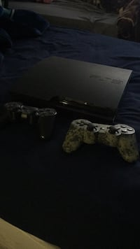 Black sony ps3 slim console with controller Pasadena, 91106