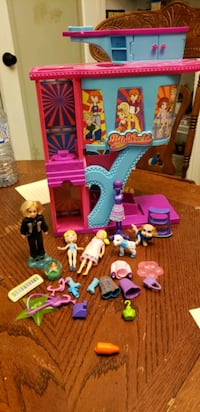 polly pockets playset figures clothes etc.