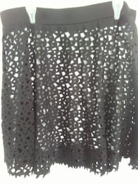 black and white lining floral skirt Metro-wear design 3750 km