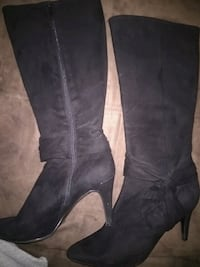 pair of black leather knee-high boots negotiable.  Piqua, 45356
