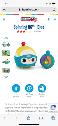 Little Tikes Spinning Remote Control Ball