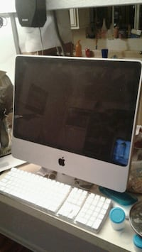 silver iMac with Apple keyboard Thermal, 92274