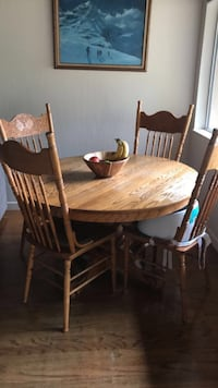 oval brown wooden table with six chairs dining set Santa Cruz, 95064