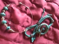 teal and pink floral beaded necklace Prescott, 86303