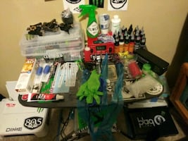 Full tattoo kit with everything you need to tattoo