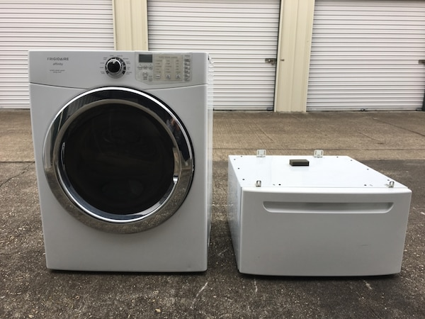 Nice Frigidaire Affinity Front Load Electric Dryer With Pedestal