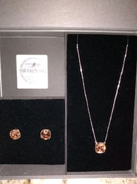 NIC & SYD pink jewel necklace and earrings aet Whitby, L1P 1B4