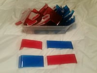 40 pieces of red and blue lexan Police light parts Surrey, V3V