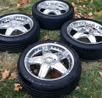 4 17in 4x114.3  4x100 wheels rims and tires Germantown