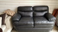 BLACK LEATHER COUCH.  FREE DELIVERY  Edmonton, T6H 5C3