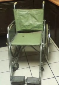 Vintage Wheelchair with Wooden Seat