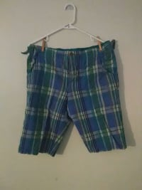 blue, green, and white plaid shorts Mitchell, 47446
