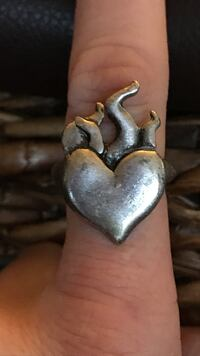 hearts on fire silver-colored ring Knoxville, 37938