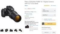 Nikon P1000 - Comes with remote and two extra batt