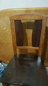 wood table 4 chairs $90 negotiable