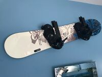 black and white snowboard with bindings Nokesville, 20181