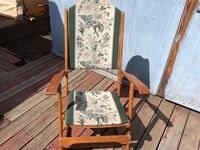 gray and green floral padded brown wooden armchair Red Deer, T4N 6S3