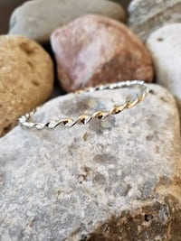 925 Sterling Silver Twist Rope Bangle!