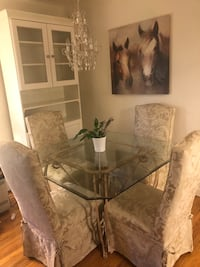 Glass table and 4 chairs  3753 km