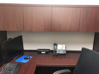 Dark Brown Wood L-Shaped Home Office Desk  WASHINGTON