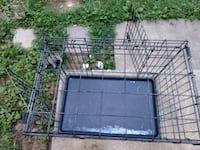 black metal folding dog crate Hanover, 21076