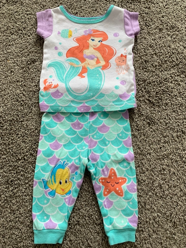 Photo The little mermaid pajamas, size 9 months.