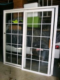 Anderson sliding glass door fits standard 6ft opening 5ft 7/8ths