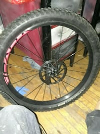 black and red bicycle wheel Edmonton, T6E 2J1