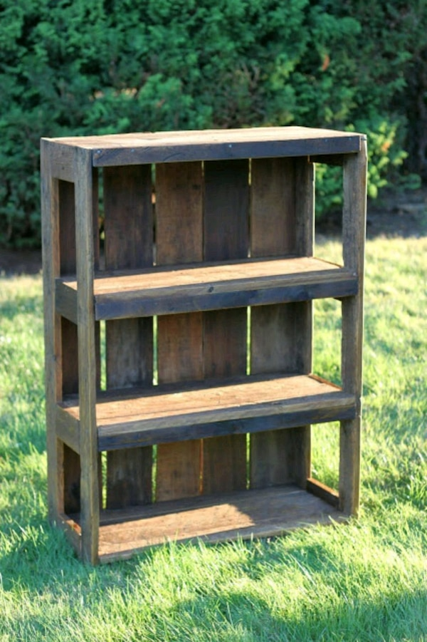 brown wooden 3-layer rack