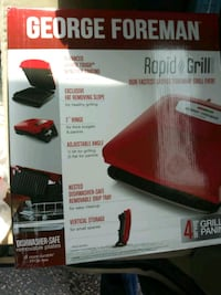 Gorge foreman grill new