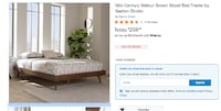 King size bed frame - brand new Alexandria