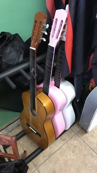 three brown, pink, and white classical guitars South San Francisco, 94080