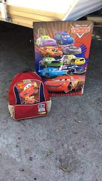 red and blue Cars themed backpack Pontiac, J0X 2G0