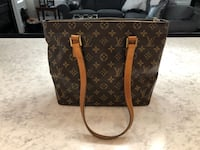 Brown louis vuitton monogram canvas leather tote bag Lincoln, L0R