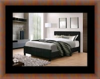 Full platform bed with box spring Temple Hills