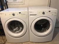 Whirlpool washer and dryer set, $1600 new-used  Clifton, 20124