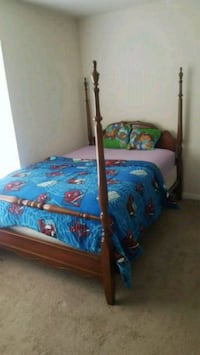 blue and brown wooden bed frame Bethesda, 20814