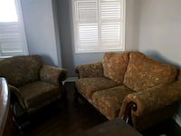 brown and black floral fabric sofa Thornhill, L4J
