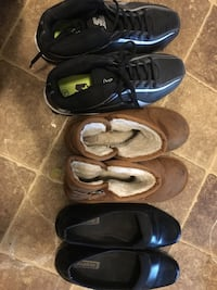 three pairs of black and blue shoes Vernon Hills