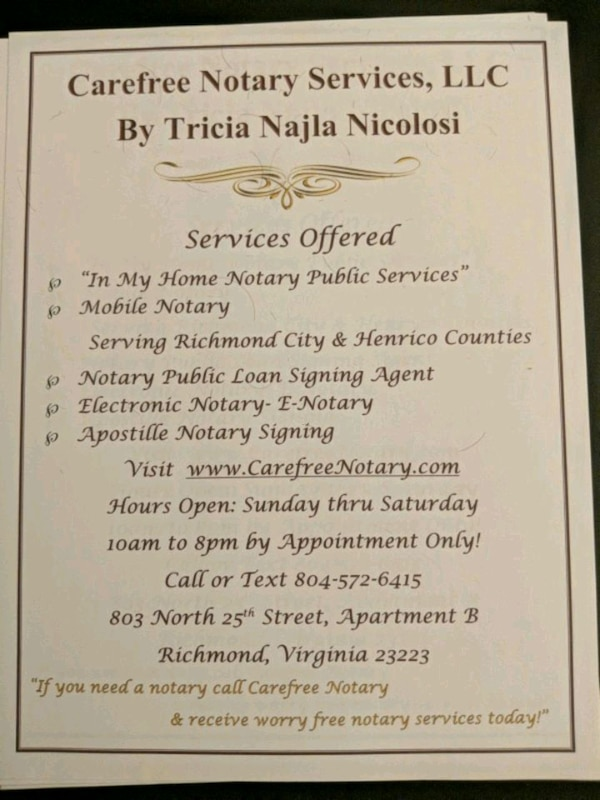 NOTARY PUBLIC AND ELECTRONIC NOTARY AVAILABLE