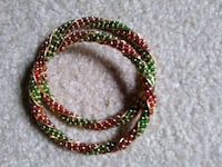 Exquisite red/green/gold color bangles(2) Silver Spring, 20906