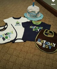 First Birthday Shirt, Bib and Hat w/ candle New Castle, 19720